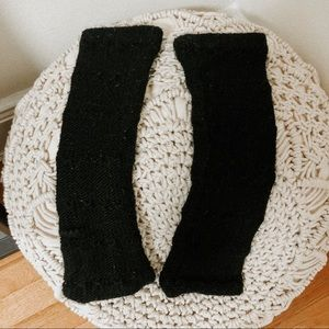 Urban outfitters black fuzzy knit leg warmers OS